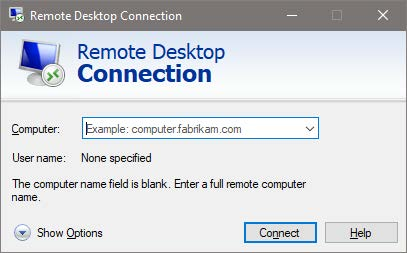 Remote Desktop Connection - W2W 2